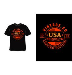 t-shirt vintage united states america brooklyn vector image