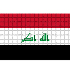 The mosaic flag of Iraq vector