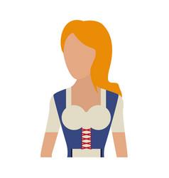 Traditional german bavarian costume icon image vector
