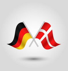 Two crossed german and danish flags vector