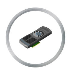 Video card icon in cartoon style isolated on white vector