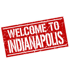 Welcome to indianapolis stamp vector