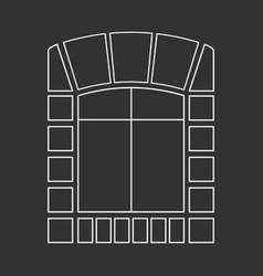 Window on the wall vector