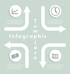 Arrow and Sign Infographics Design Template vector image vector image