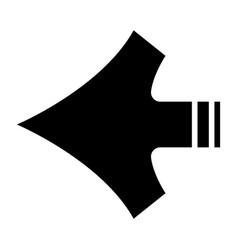 arrows shape vector image vector image
