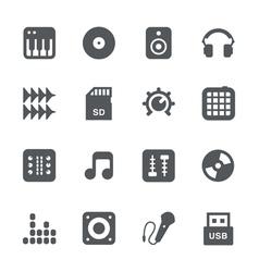 DJ equipment icon set vector image