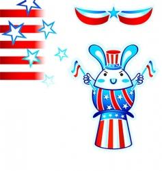 election rabbit vector image vector image
