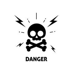 electrical hazard sign flat vector image vector image