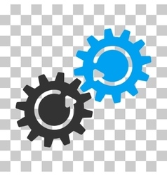 Gear Mechanism Rotation Icon vector image vector image