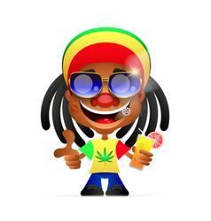Jamaican guy vector image