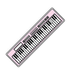 piano keyboard music technology vector image vector image