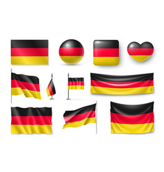 set germany flags banners banners symbols flat vector image