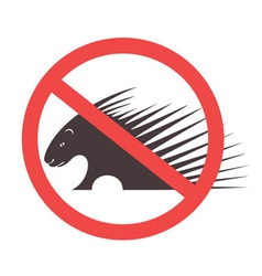 Stop Porcupine Sign vector image vector image