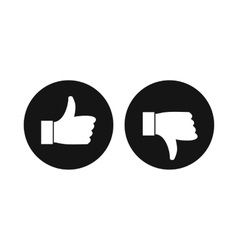Thumbs up and down icon simple style vector image vector image