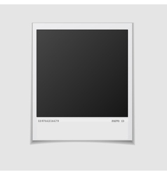 Blank photo frame isolated on white background vector image