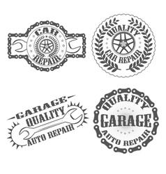 garage auto repair vector image vector image