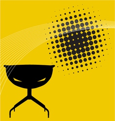 modern furniture background vector image