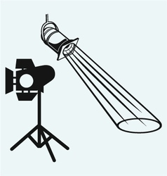 Overhead lights with beam vector image