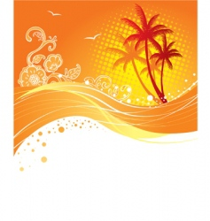palm curve vector image vector image