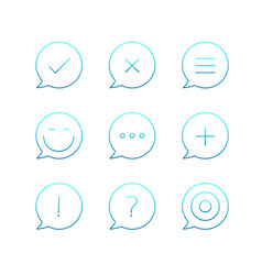 outline icons set thin line icons collection vector image vector image