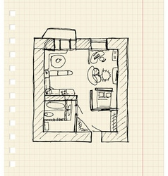 Redevelopment of apartment sketch vector image