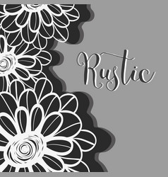 rustic flowers with petals design background vector image vector image