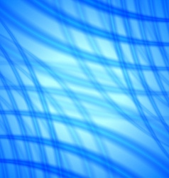 Abstract background with soft blue lines vector image vector image