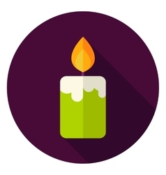 Candle Fire Circle Icon vector image vector image