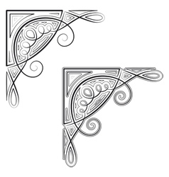 Decorative corner vector