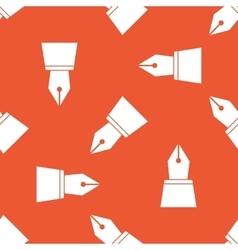 Orange ink pen nib pattern vector image