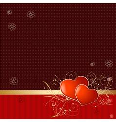 retro wallpaper with valentine vector image
