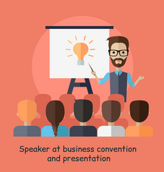 speaker at business convention and presentation vector image