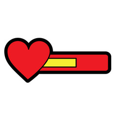 video game bar progress with heart vector image