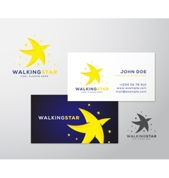 Walking Star Abstract Logo and Business vector image vector image