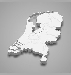 3d map with borders template for your design vector image