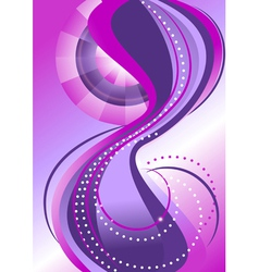 Abstract pattern bands of circles vector