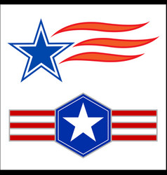 american decorative star symbols set vector image