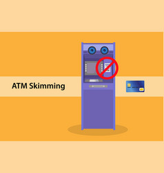 atm skimming stealling data from automated vending vector image