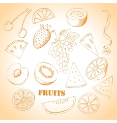 Background with fruit-08 vector image