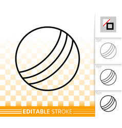 ball simple black symbol line icon vector image