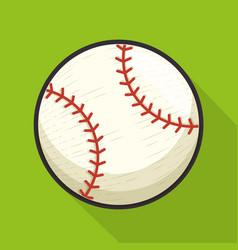 Baseball sport ball isolated icon vector