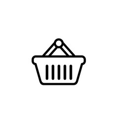 basket line icon in flat style icon for apps ui vector image