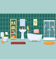 Bathroom interior stylish central vector