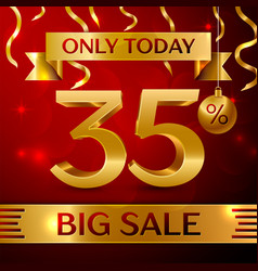big sale thirty five percent for discount vector image
