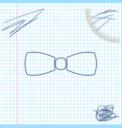 bow tie line sketch icon isolated on white vector image
