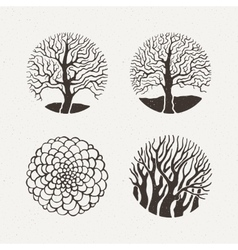 Circle trees set Pattern vector