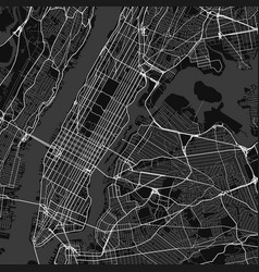 City map of new york in black and white vector