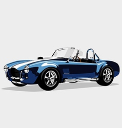 Classic sport blue car AC Shelby Cobra Roadster vector