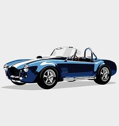 Classic sport blue car ac shelcobra roadster vector