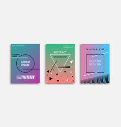 collection of minimalistic abstract posters - vector image
